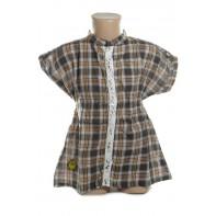 Dievčenská košeľa károvana krátky rukáv