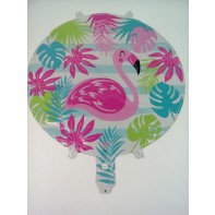 Balón hélium plameniak ružový 45cm