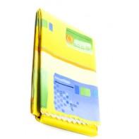Teflónový obrus vzorovaný 150x220cm, žltá farba, zúbkovaný okraj