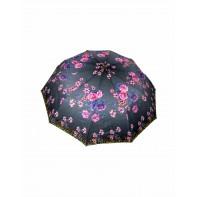 Skladací dáždnik ružový a modrý kvet