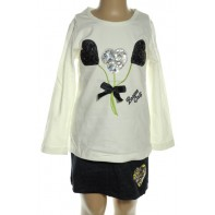 Súprava sukňa s tričkom od BREEZE - srdcia