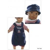 Komplet detský deluxe - riflový s klobúkom