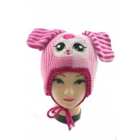 Dievčenská čiapka - zajac