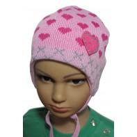 Detská čiapka - srdiečko, C-5-3892
