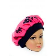 Detská čiapka - baretka mašľa