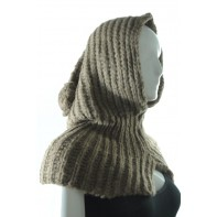 Pletený šál s čiapkou