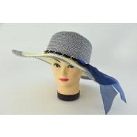 Dámsky klobúk mašľa + retiazka