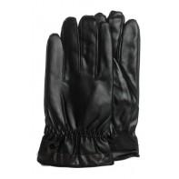 Pánske koženkové rukavice jednofarebné