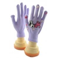 Dievčenské rukavice Psík-mačka