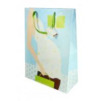 Darčeková taška veľká 45*33 cm- tehotná žena smod, C-7-109695