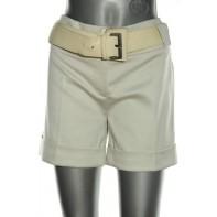 Dámske krátke nohavice s opaskom