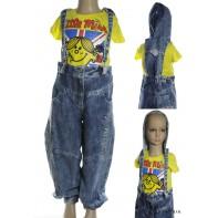 Nohavice s trakmi a kapucňou - detské