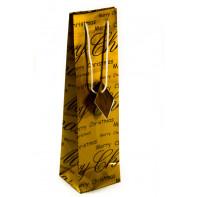 Vianočná darčeková taška na víno – Merry Christmas 35 x 9,5 cm