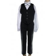 Detský komplet, oblek čierny - vesta + nohavice