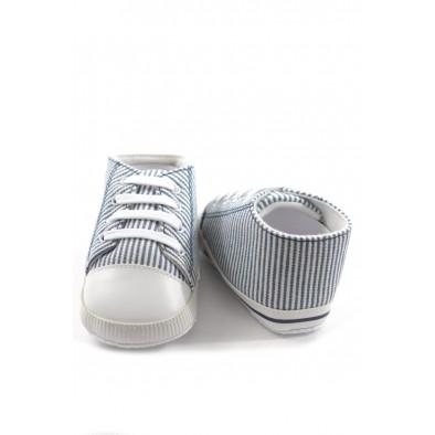 Kojenecké papučky - pásiky