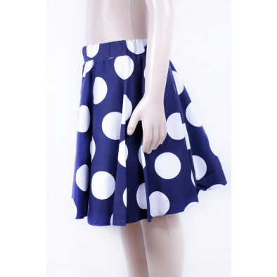 Detská sukňa s veľkými bodkami