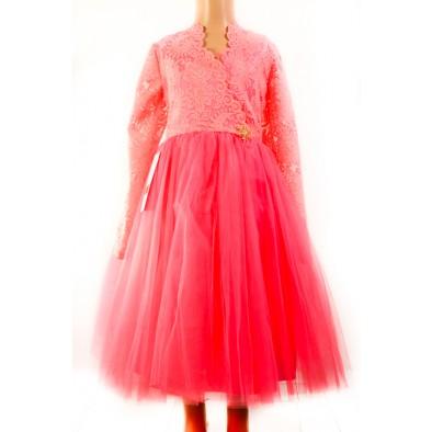 Dievčenské šaty - čipkované s vločkou