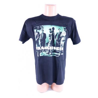 Pánske tričko Rammstein, kapela, zelený motív