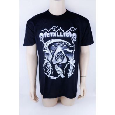 Tričko Metallica, smrtka s kosou, čiernobiele