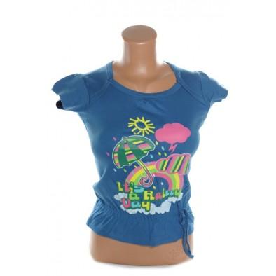Detské tričko so šnúrkami kratky rukav