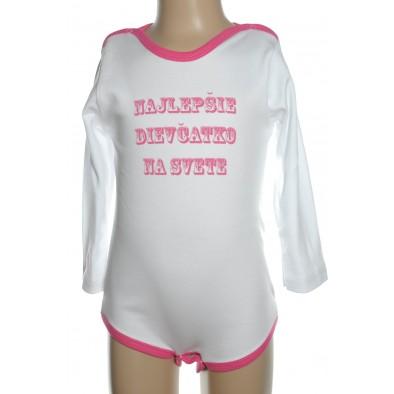 Detské, kojenecké body - Najlepšie dievčatko, 2-3141