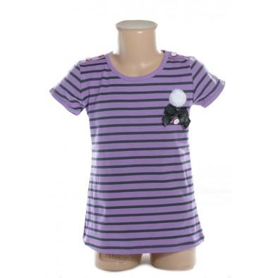 Detské tričko - pásikavé kratky rukav
