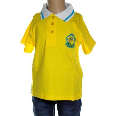 Detské tričko Minions, golier a gombiky