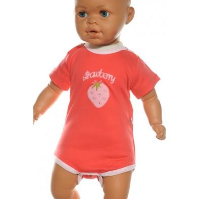 Detské, kojenecké body - jahoda