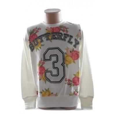 Detský pulover - semišový kvet