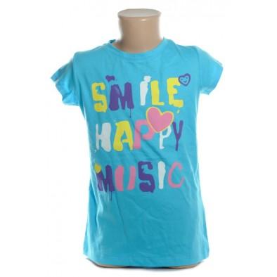 Detské tričko - SMILE happy music kratky rukav