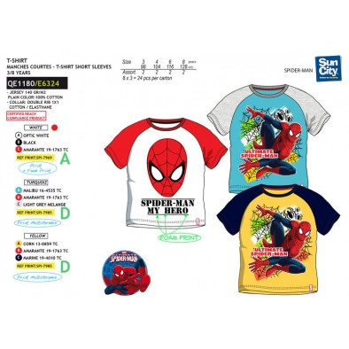 Detske SPIDERMAN tričko krátky rukáv raglán