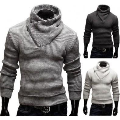 Pánsky sveter so zipsom