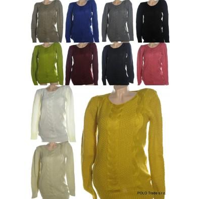 Dámsky sveter - okrúhly golier