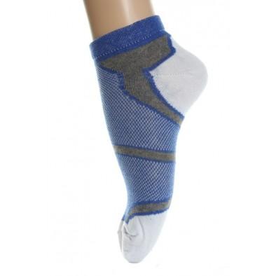 Ponožky - farebná päta, modrá