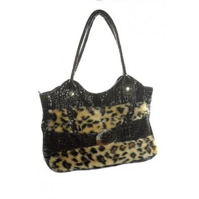 Kožušinková kabelka s prackou - tiger