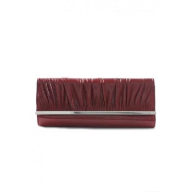 Spoločenská kabelka s nariaseným koženkovým povrchom