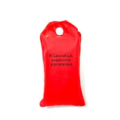 Nákupná taška s menom Klaudia - svedomitá a priateľská 15ltr