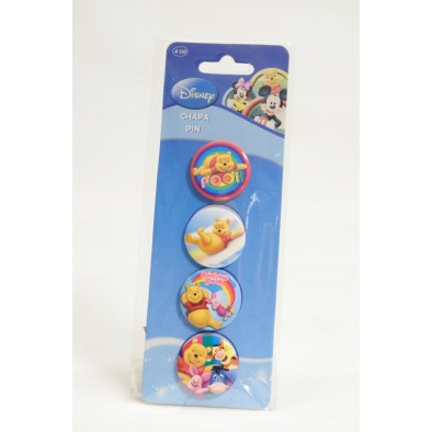 Odznaky Pooh 4ks, C-26-0013