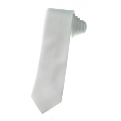 Tenká kravata - biela