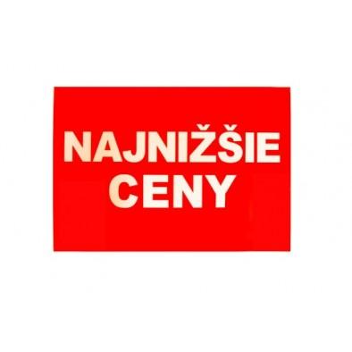 Reklamný pútač NAJNIŽŠIE CENY / ZĽAVA