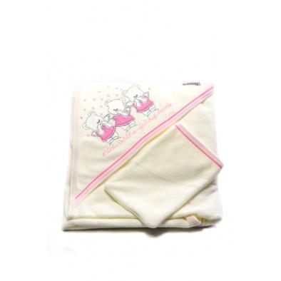 Detský kojenecký uterák - 3 mackovia 90x90 cm