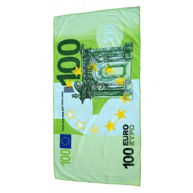 Plážová osuška - 100 eurová bankovka