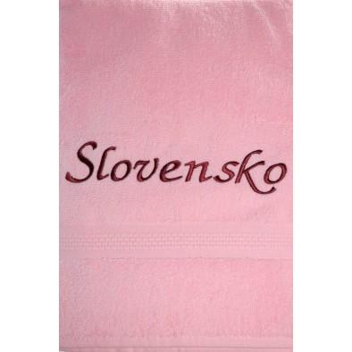 Uterák Slovensko - ružový svk slovakia 100 x 50cm