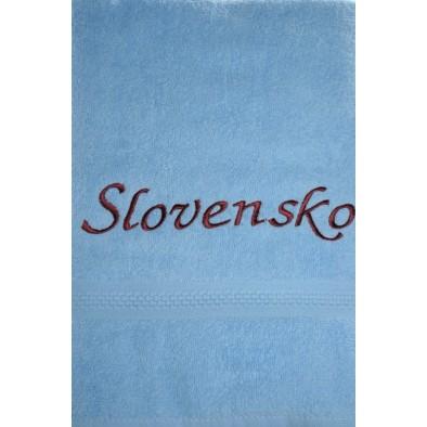 Osuška Slovensko - modrá 70 x 140cm svk slovakia