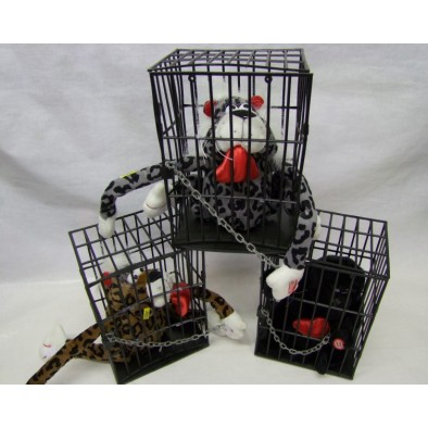Plyšové zvieratká v klietke, C-3-0034