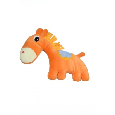 Plyšový oranžový kôň, C-31-8567M
