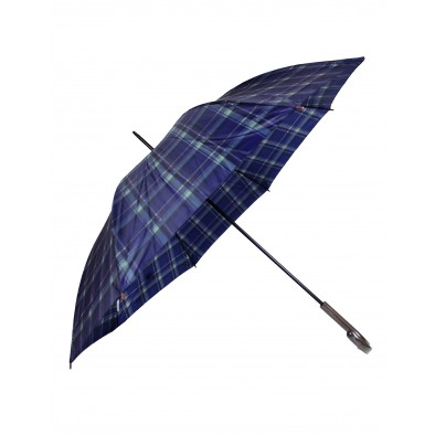 Dáždnik - modrý károvaný