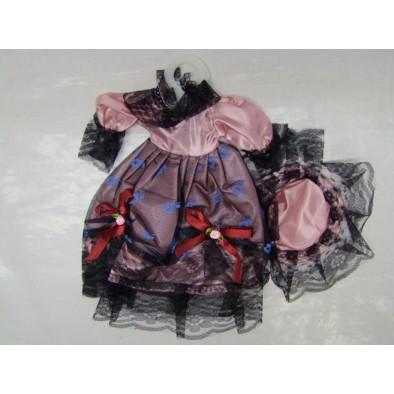 Šaty + klobúk pre bábiky, C-3-00277
