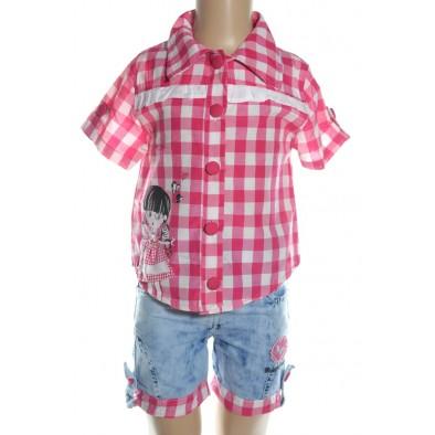 Komplet detský - košeľa a krátke riflové nohavice