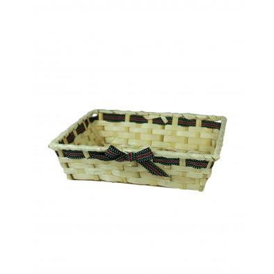 Košík ratanový 27cm - mašľa